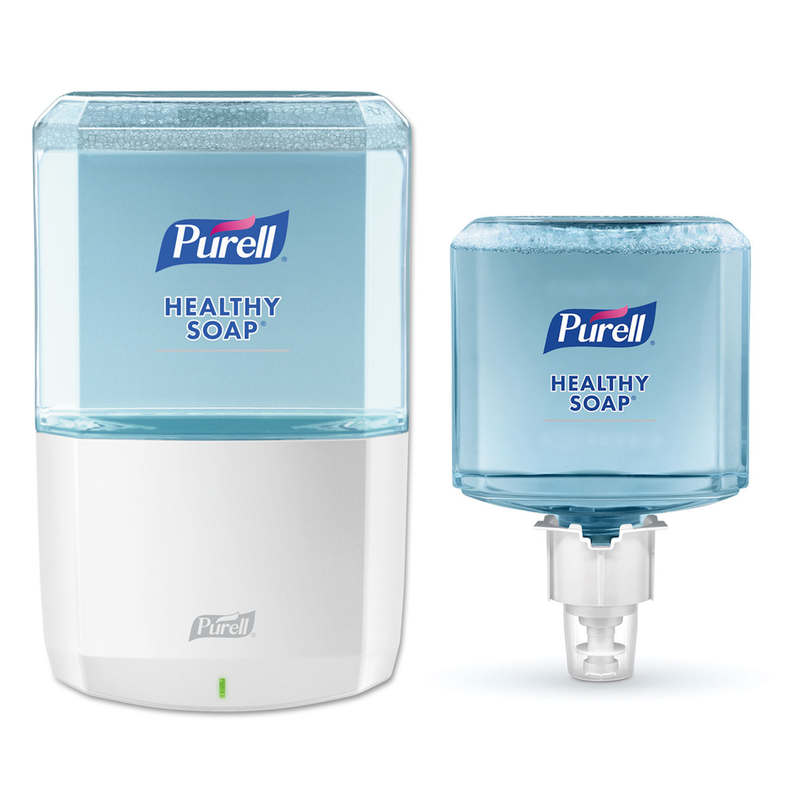 Purell Healthy Soap Starter Kit w/ White Touchless Dispenser and Refills - TotalRestroom.com
