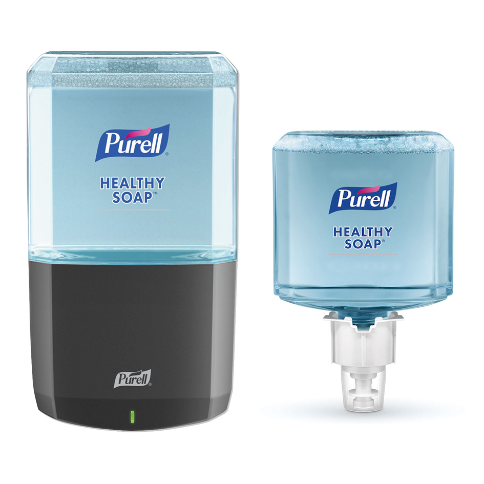 Purell Healthy Soap Starter Kit w/ Graphite Touchless Dispenser and Refills
