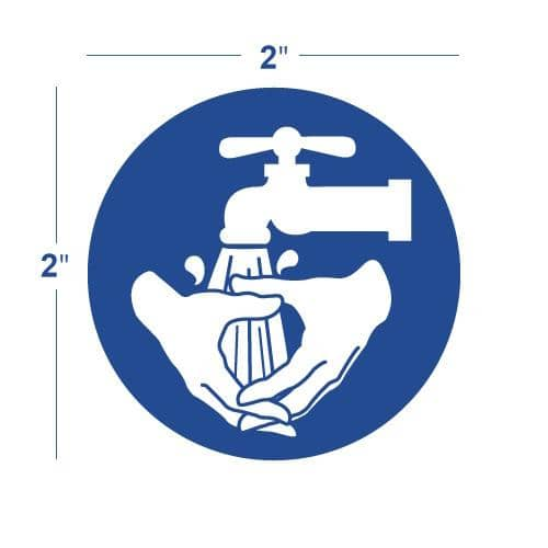 NMC LABEL, GRAPHIC FOR WASH HANDS, 2IN DIA, PS VINYL - ISO217AP - TotalRestroom.com