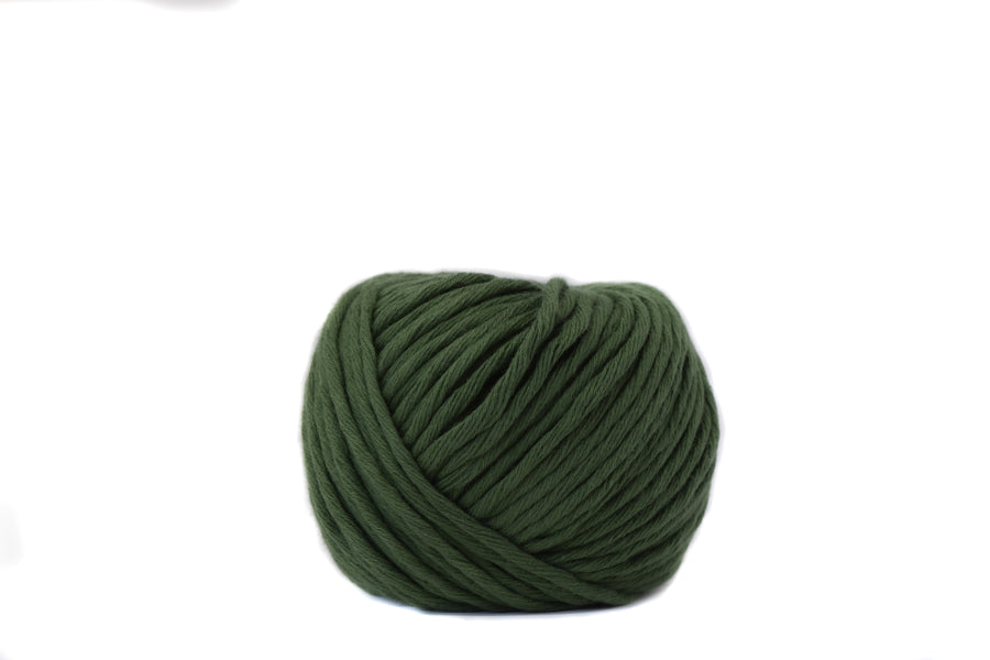 BOLAS DE ALGODÓN MACRAMÉ 2.5 MM - 1 SOLA HEBRA - COLOR ARMY GREEN