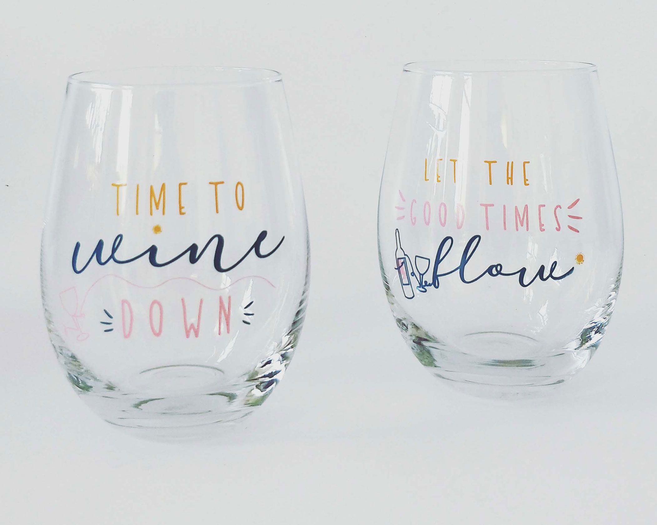 URBAN PRODUCTS - Set of two stemless wine glasses