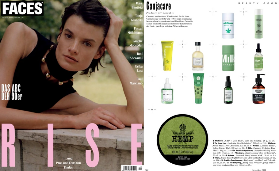 Our wonderful Hemp Bio Nutrition Oil featured in Faces - a monthly magazine