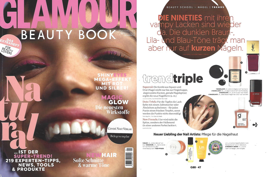 Dr Botanicals Lemon Butter is featured in Glamour Magazine by Conde Nast publishing house