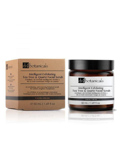 Intelligent Exfoliating Tea Tree and Quartz Facial Scrub - Dr. Botanicals Skincare