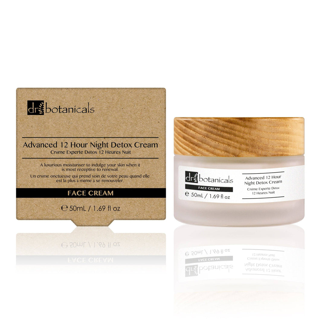Advanced 12-Hour Night Detox Cream - Dr. Botanicals Skincare