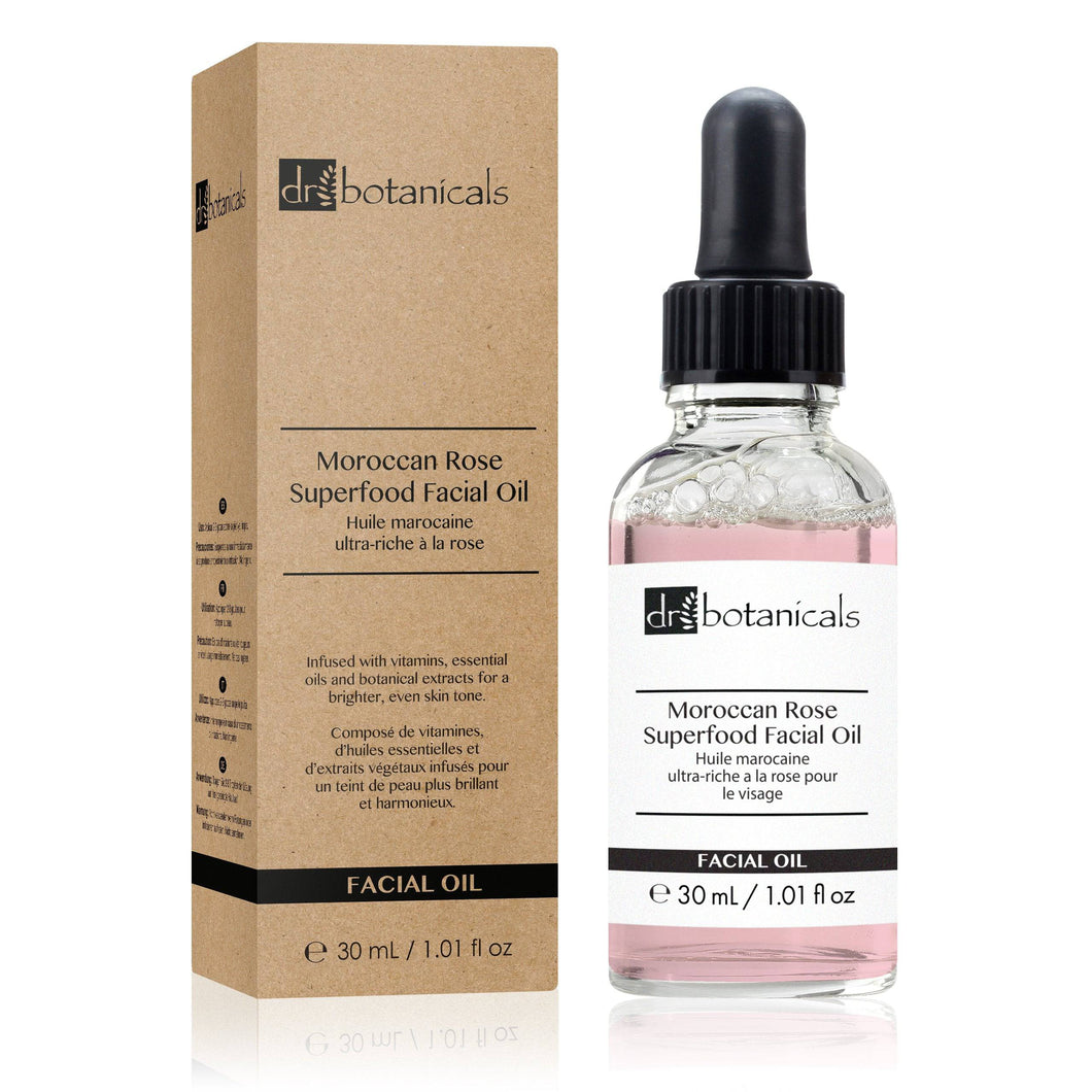 Moroccan Rose Superfood Facial Oil (30ml) - Dr. Botanicals Skincare