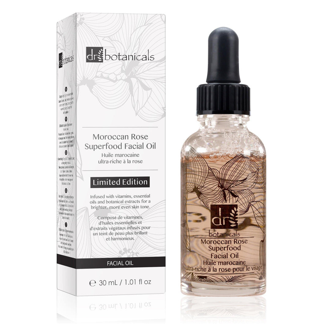 Moroccan Rose Superfood Facial Oil - Limited Edition (30ml) - Dr. Botanicals Skincare