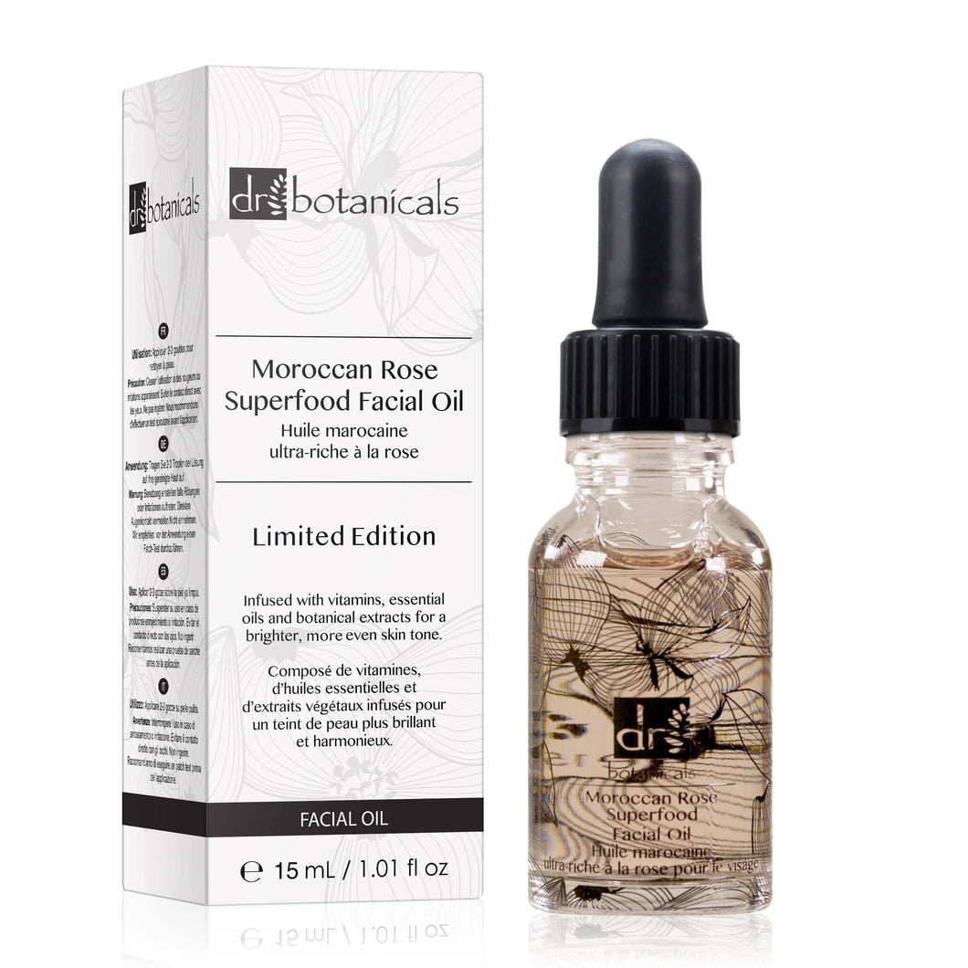 Moroccan Rose Superfood Facial Oil - Limited Edition (15ml) - Dr. Botanicals Skincare