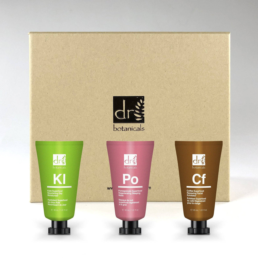 3 Piece Superfood Collection - GIFT SET - Dr. Botanicals Skincare