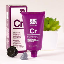 Load image into Gallery viewer, Charcoal Superfood Mattifying Face Mask (30ml) - Dr. Botanicals Skincare