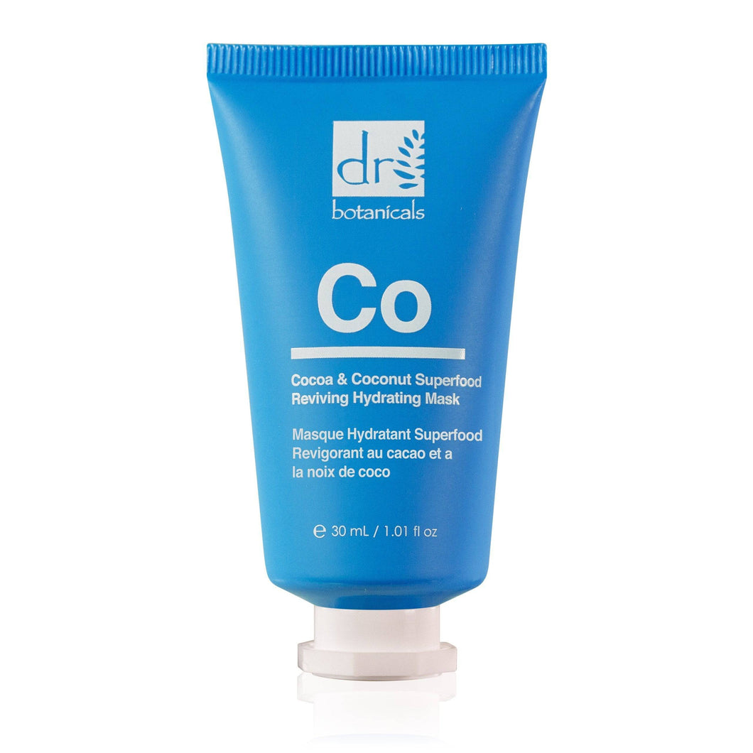 Cocoa & Coconut Superfood Reviving Hydrating Mask 30ml - Dr Botanicals USA