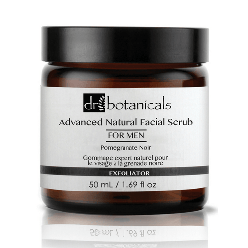Pomegranate Noir Advanced Natural Facial Scrub for Men - Dr. Botanicals Skincare