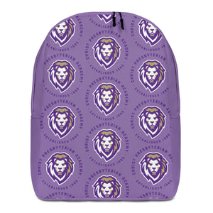 Minimalist All-over Print Backpack | Lavender