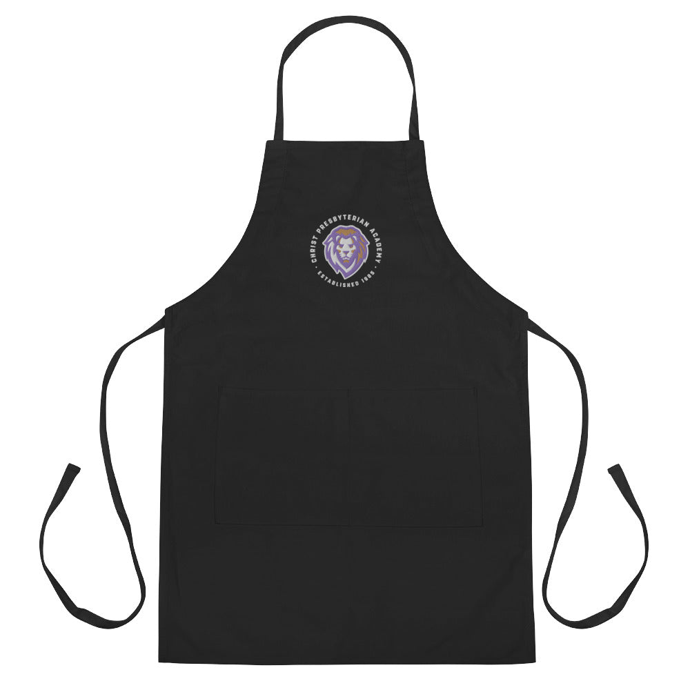 Embroidered Apron | Black