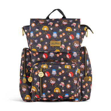 JuJuBe Be Sporty Backpack Diaper Bag in Cheering Charms Front View