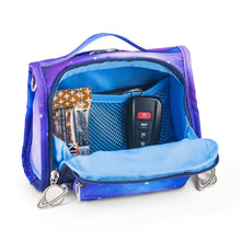 Load image into Gallery viewer, JuJuBe Mini BFF Diaper Bag in Galaxy Inside View