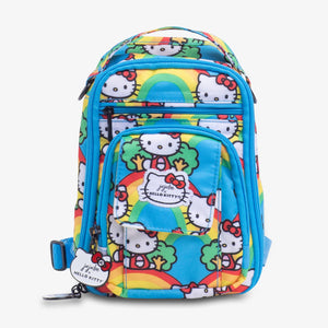 uJuBe Mini BRB Backpack Diaper Bag in Hello Rainbow Front View