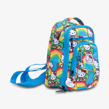 Load image into Gallery viewer, uJuBe Mini BRB Backpack Diaper Bag in Hello Rainbow Sideway View