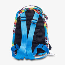 Load image into Gallery viewer, uJuBe Mini BRB Backpack Diaper Bag in Hello Rainbow Rear View