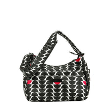 Load image into Gallery viewer, uJuBe Hobobe Purse Diaper Bag in Black Widow Front View