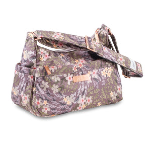 uJuBe Hobobe Purse Diaper Bag in Sakura at Dusk Sideway View