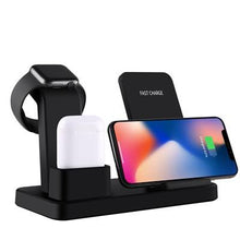 Load image into Gallery viewer, 3-in-1 Qi Wireless Charging Dock Station for iPhone, AirPods, and Apple Watch - Smartphone King