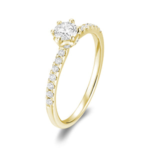 Hemsleys Collection 14K Six-Prong Diamond Engagement Ring