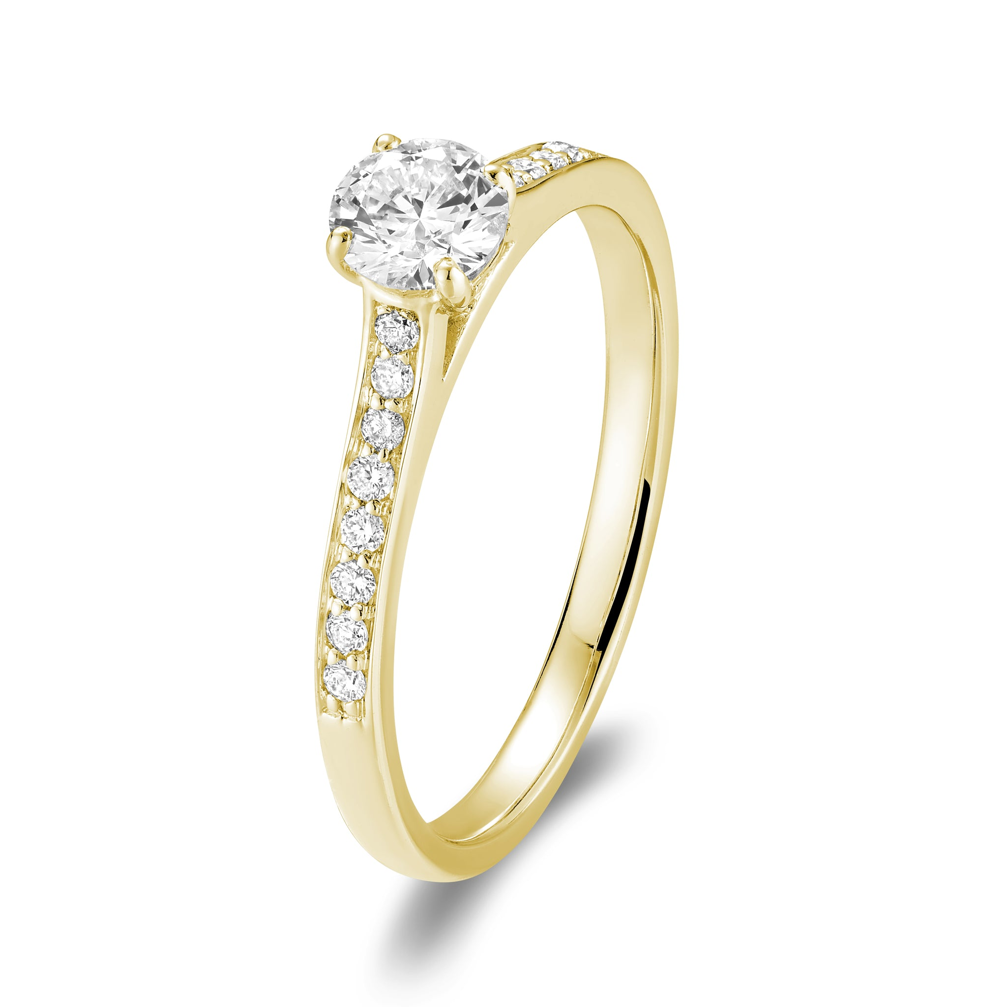 Hemsleys Collection 14K Round Diamond Engagement Ring