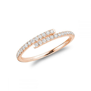 Hemsleys Collection 14K Diamond Linear Wrap Ring