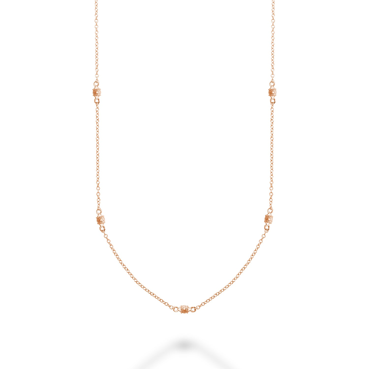 Hemsleys Collection 14K Milgrain Beads-By-The-Yard Necklace