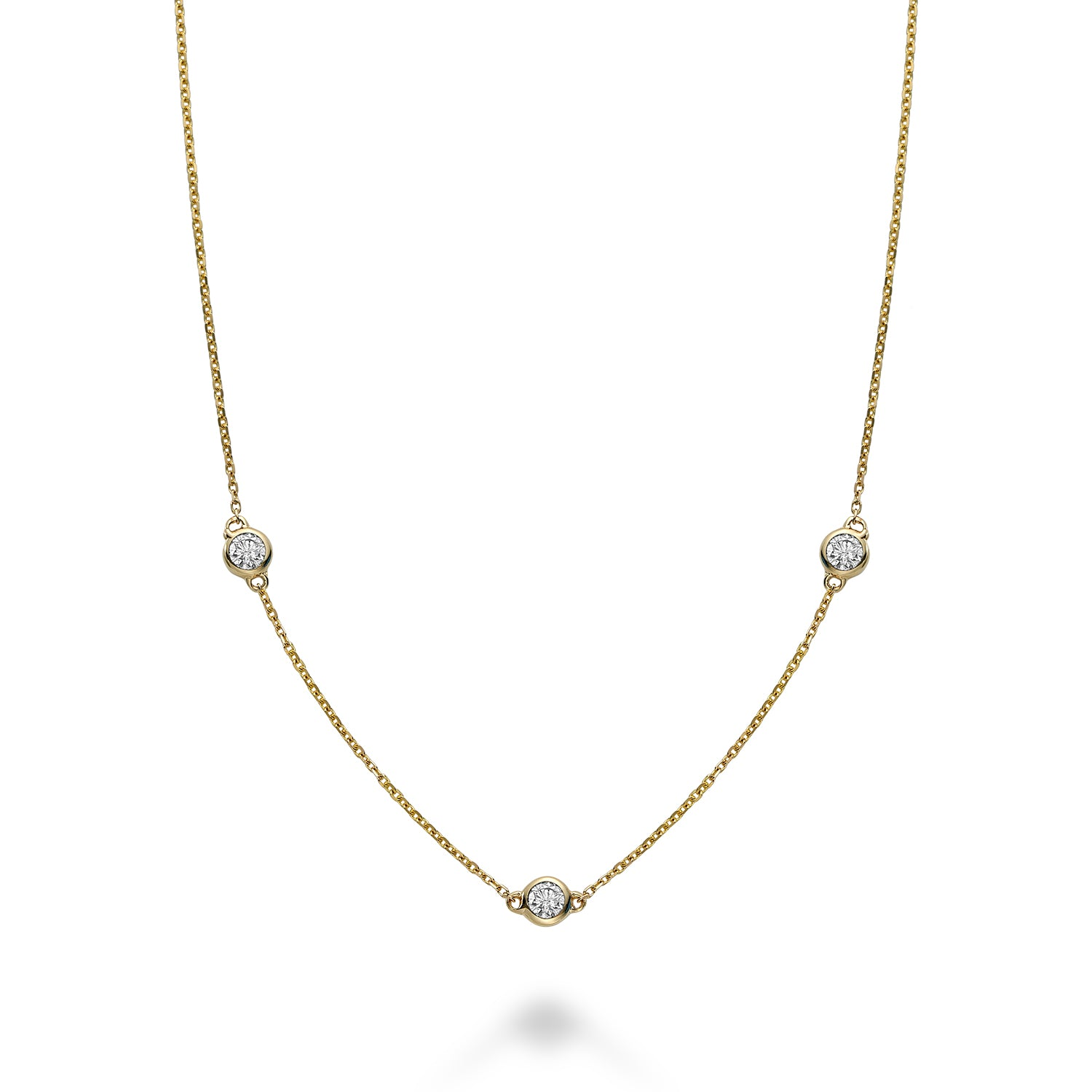 Hemsleys Collection 14K Mini Diamonds-By-The-Yard Necklace