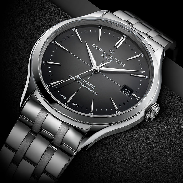 Baume Et Mercier Clifton Baumatic Automatic (Grey Dial / 40mm)
