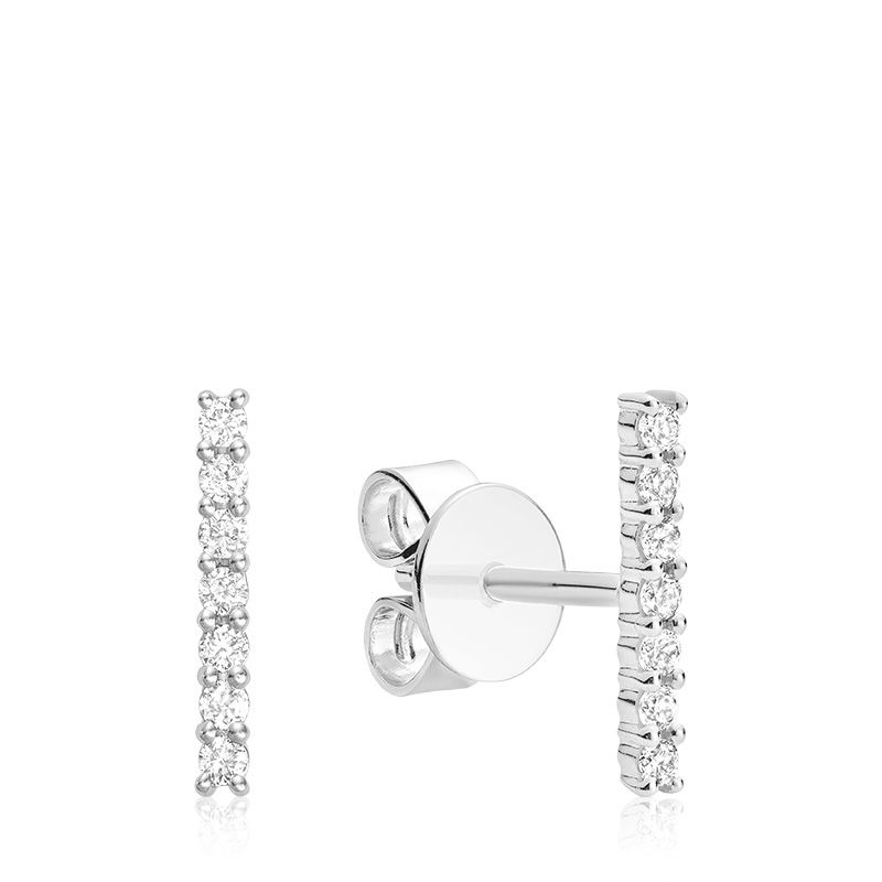 Hemsleys Collection 14K Diamond Bar Stud Earrings
