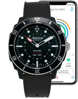 Alpina Seastrong Horological Smartwatch  (Black Dial / 44mm)