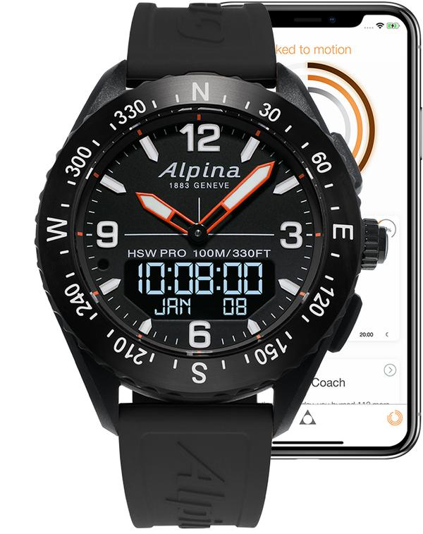 Alpina AlpinerX Smartwatch  (Black Dial / 45mm)