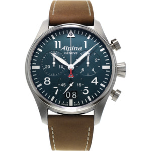 Alpina Startimer Pilot Big Date Chronograph Quartz (Blue Dial / 44mm)