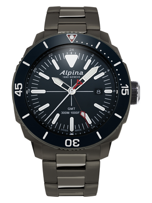 Alpina Seastrong Diver 300 GMT Quartz (Blue Dial / 44mm)