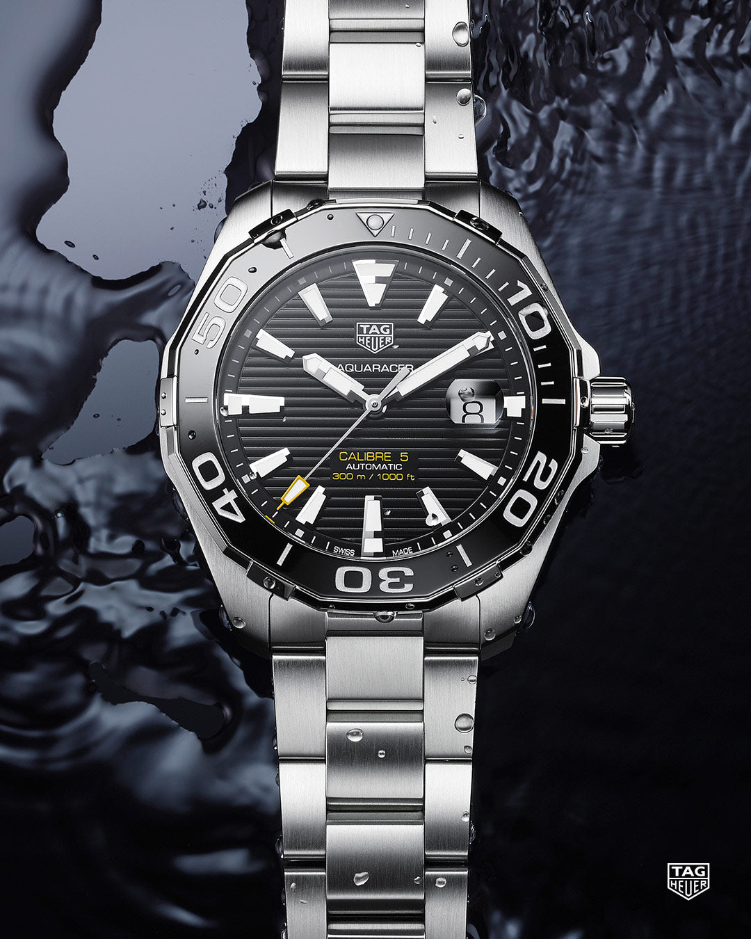 TAG Heuer Aquaracer Automatic (Black Dial / 43mm / Ceramic)