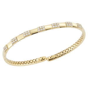 Hemsleys Collection 18K Diamond & Gold Bangle
