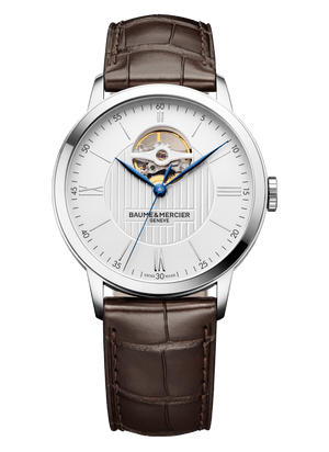 Baume Et Mercier Classima Automatic (Silver Dial / 40mm / Open Balance Wheel)