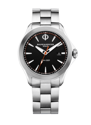 Baume Et Mercier Clifton Club Quartz (Black Dial / 42mm / Steel Bracelet)