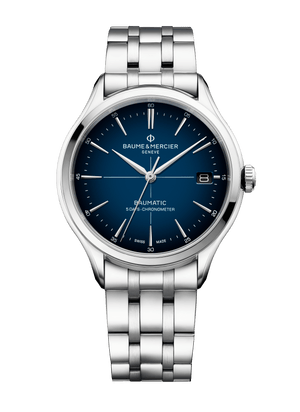 Baume Et Mercier Clifton Baumatic Automatic (Blue Dial / 40mm)
