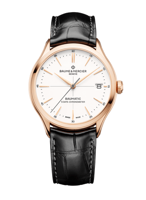 Baume Et Mercier Clifton Baumatic 18K Rose Gold Automatic