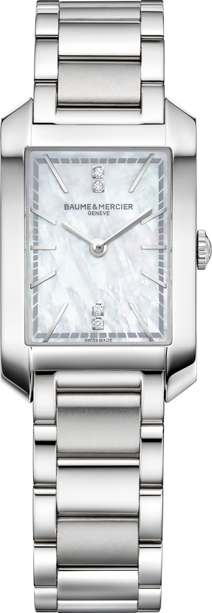 Baume Et Mercier Hampton Lady Quartz (White MOP Diamond Dial)