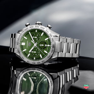 TAG Heuer Carrera Heuer 02 Automatic Chronograph (Green Dial / 44mm)