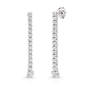 Uneek 18K Diamond Drop Linear Earrings