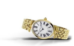 Frederique Constant Classics Art Deco Oval Quartz (White Dial / 30mm / Yellow Gold)