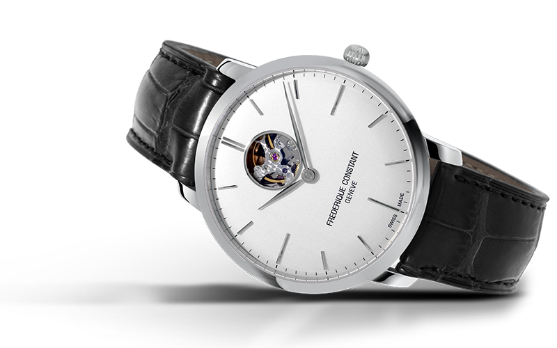 Frederique Constant Slimline Heart Beat Automatic (Silver Dial / 40mm)