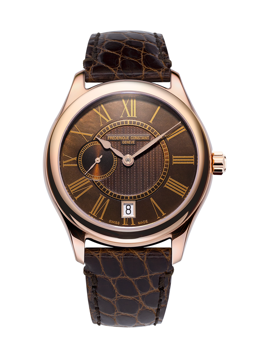 Frederique Constant Ladies Small Second Automatic (Brown Dial / 36mm / Rose Gold Case)