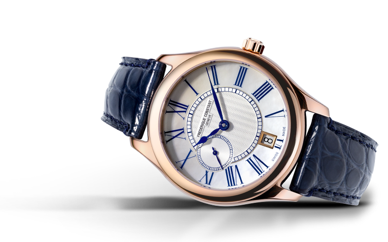 Frederique Constant Ladies Small Second Automatic (White Dial / 36mm / Rose Gold Case)